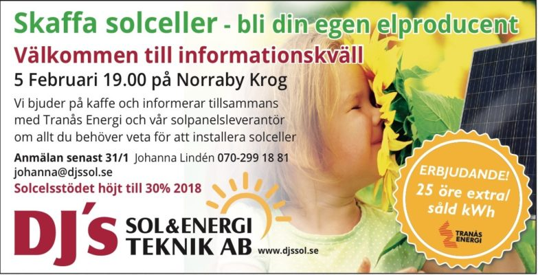 Informationskväll 5 feb… Fullbokad!